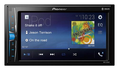 auto estéreo pioneer mvh-a205bt pantalla 2 din 6.2 bluetooth