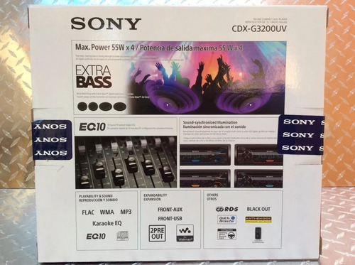 auto estereo sony cdx-g3200uv multicolor cd usb mp3 aux