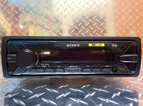 auto estéreo sony dsx-a100u usb con bocinas 6.5 y 6x9