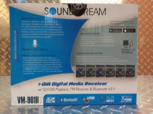 auto estereo soundstream vm-901b bluetooth multicolor usb