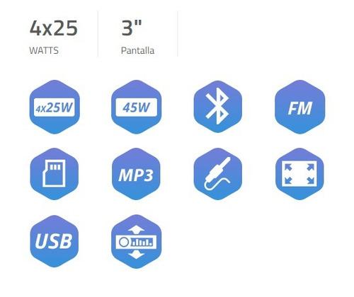 auto estereo stromberg carlson pantalla 3 mp3/mp4/avi/bt