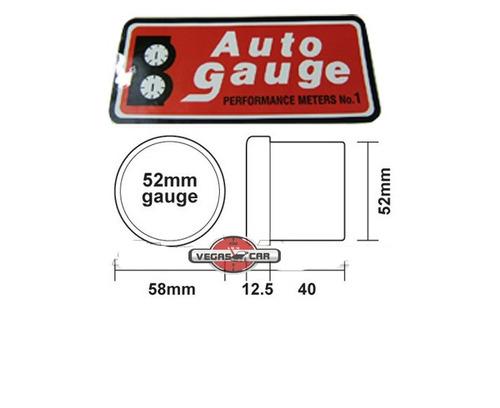 auto gauge voltimetro 52mm black serie