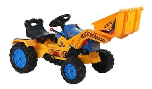 auto gokart pedales construcción cargador azul / juguetón
