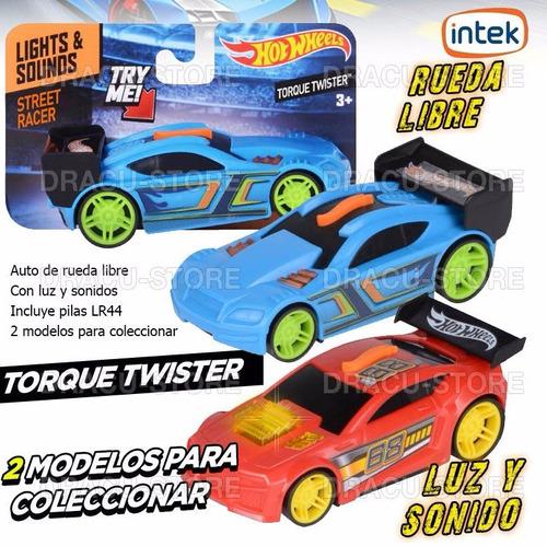auto hot wheels con luz y sonido - torque twister - 91600