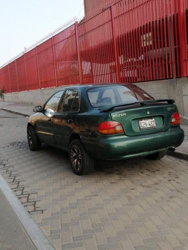 auto hyundai accent 1995 dual glp 7500, aros de aleacion