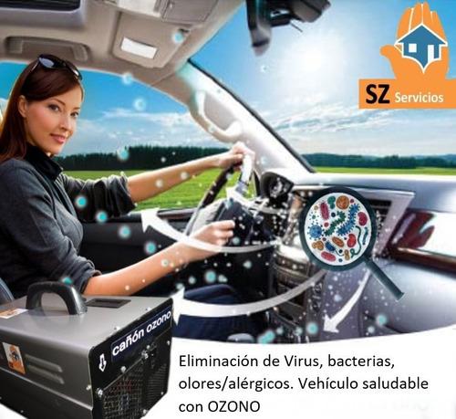 auto inundados fieltro mojado ozono