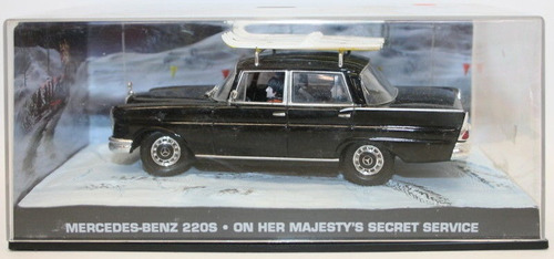 auto james bond 007 mercedes benz 220s escala 1:43 colección