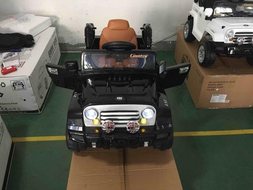 auto jeep bateria control musica luces 6v zaki  babymovil