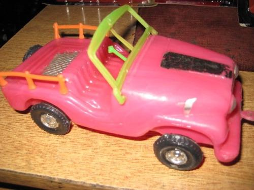 auto jeep de plastico nibo 20 cm   ind. uruguaya - impecable