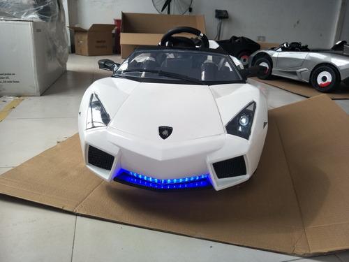 auto lamborghini a batería12v con control remoto y mp3