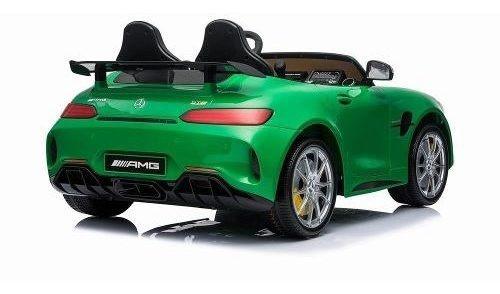 auto mercedes benz amg gtr eléctrico verde original niño