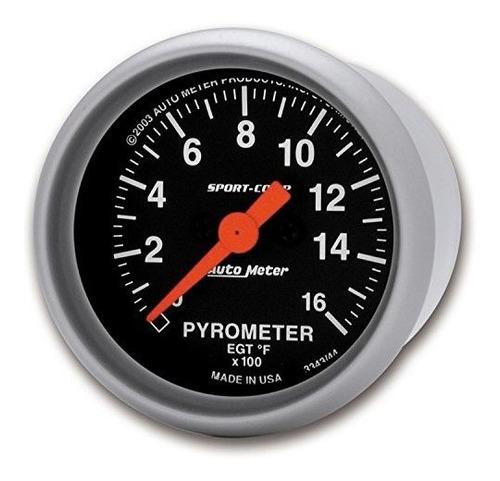 auto meter 3344 sportcomp electric pyrometer gauge kit
