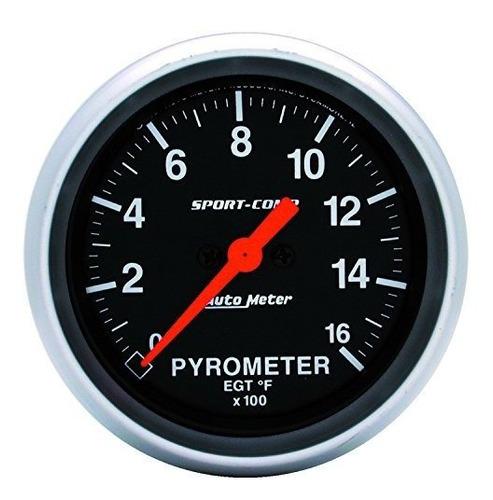 auto meter 3544 sportcomp electric pyrometer gauge kit