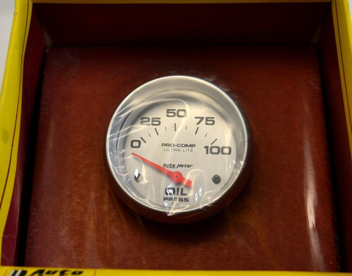 auto meter medidor pressão óleo maverick gt charger opala ss