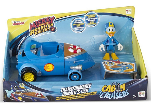 auto mickey transformable 2 en 1 y figura new 182660 bigshop
