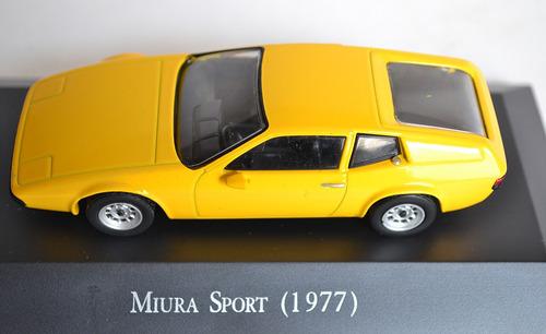 auto miura sport 1977 escala 1:43 colección metal