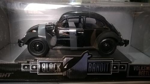 auto negro de película volkswagen beetle escala 1/18