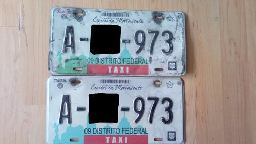 auto no placas taxi cdmx