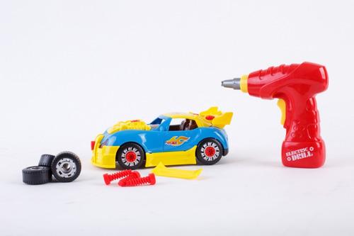 auto para armar c/ destornillador c/ luz y sonido jem