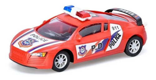 auto policia a friccion juguete autito juego patrullero niño