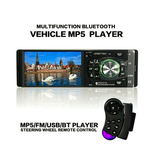 auto radio 1 din 4.1 hd mp5 bluetooth usb sd + control vol