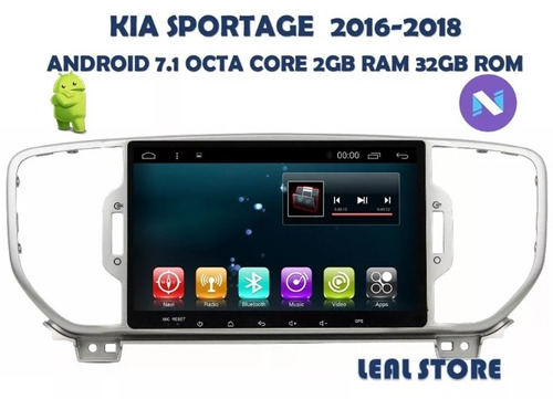 auto radio android 7.1 para sportage 2016-2017