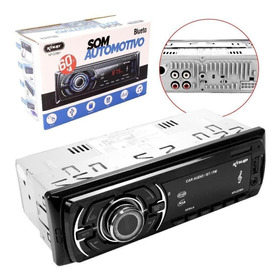 Auto Radio Automotivo Bluetooth Mp3 4x60w Usb Carro Fm