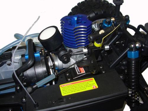auto radio control explosion rc 1/10 70km/h 4x4 nitro + kit