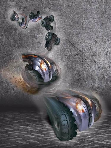 auto radio control monster 360 giro trucos original tv