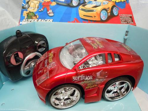 auto radio control multifuncion  - rojo -plata dorado -21 cm