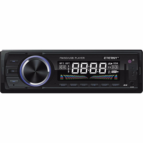 auto rádio eterny et33001 c/controle e lcd colorido.usb mp3