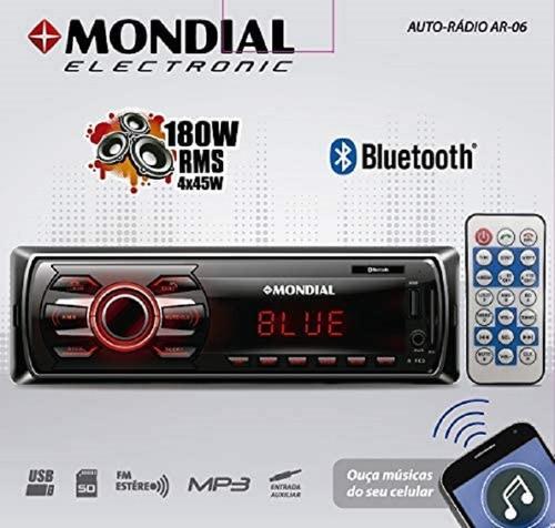 auto rádio mondial ar-06 bluetooth