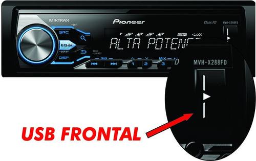 auto radio pioneer mvh-x288fd alta potencia 2016