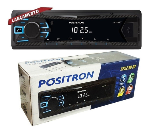 auto rádio positron usb automotivo sp2230bt bluetooth