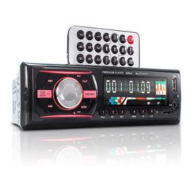 Auto Rádio Som Automotivo Bluetooth Mp3 Player Fm Usb Aux Sd