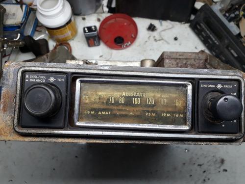 auto radio valvulado marca allstate decada de 1950