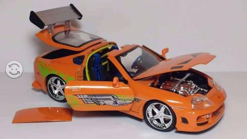 auto rapido y furiosos toyota supra 1.24 metal klm 97168