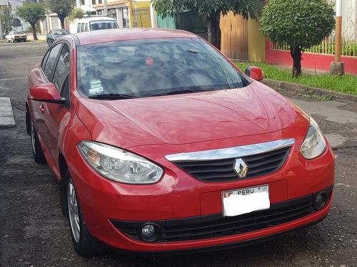 auto renault fluence. 2011. rojo. gasolinero 42000 km