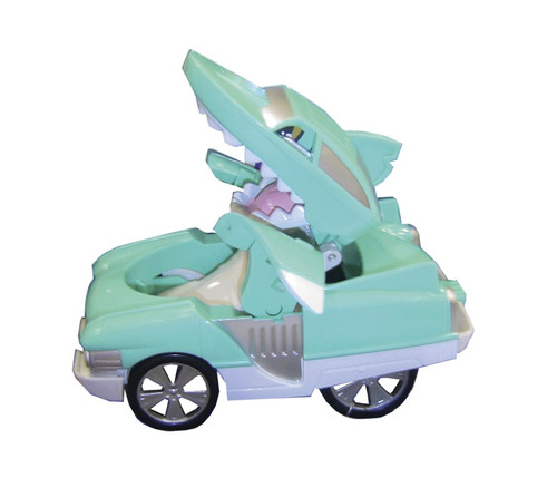 auto shark transformer animal juguetes 10 cm