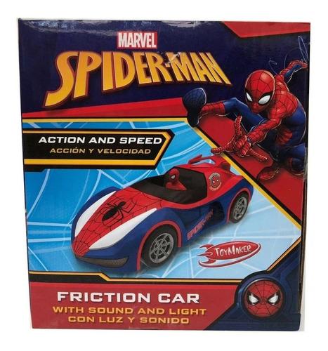 auto spider man hombre araña a friccion avengers 35 xm