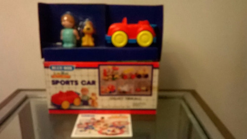 auto sport con muñeco y perro blue box- juguetes devoto