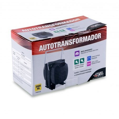 auto transformador 2000va 110 220 / 220 110 forceline