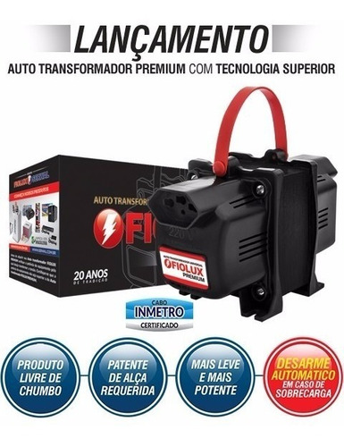 auto transformador 2000va fiolux premium - tripolar (2p+t)