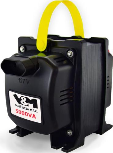 auto transformador 5000va automático 110 - 220v 12x s/ juros