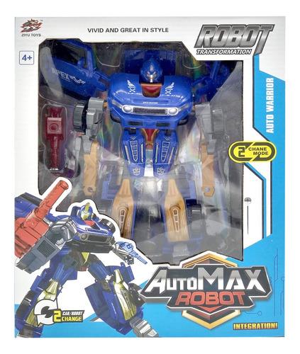 auto transformers max robot juguete transformable 2 en 1