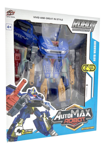 auto transformers max robot juguete transformable 2 en 1