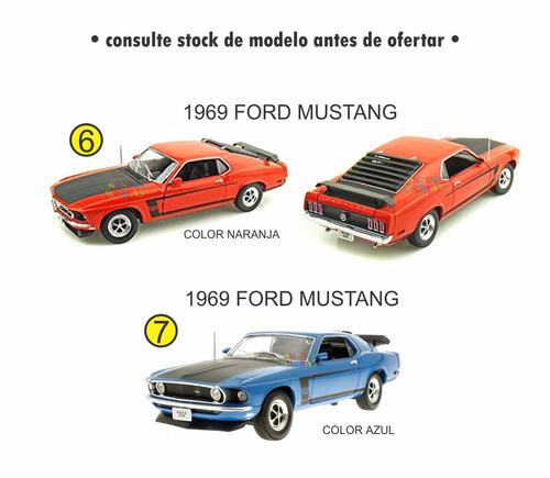 auto welly metal escala 1:18 - varios modelos - mundo manias