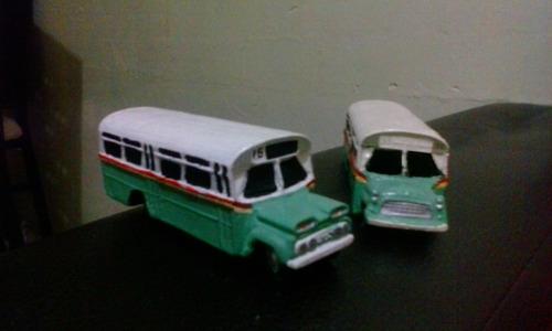 autobus clásico cd/mx pistache  escala 1:87 (paq. con 2)