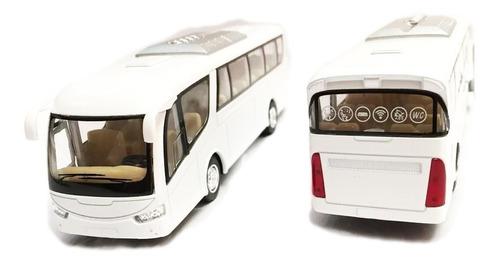 autobús de pasajeros de metal kinsmart blanco