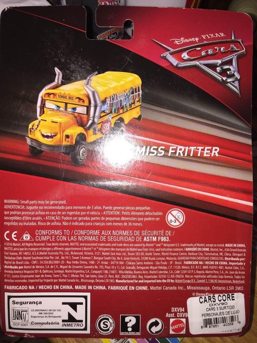autobus escolar miss fritter camion deluxe cars 3 disney en mercado libre. Black Bedroom Furniture Sets. Home Design Ideas